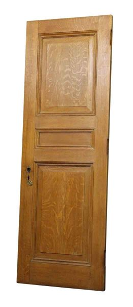 Single Three Panel Tiger Oak Door with Faux Finish