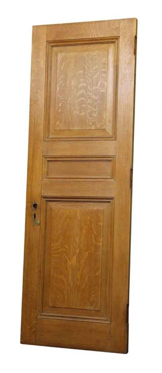 Antique interior doors olde good things single three panel tiger oak door with faux finish planetlyrics Images