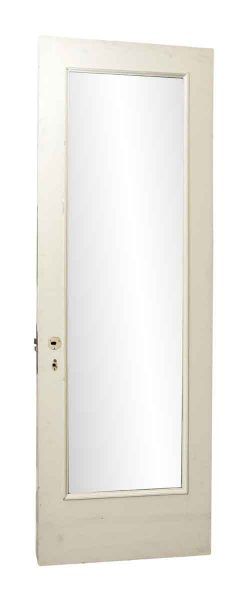 White Wood Door with Mirror with One Side