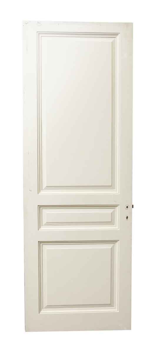 Three Panel White Wooden Door