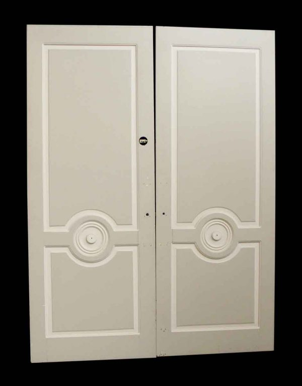 Pair of Doors with Bulls Eye Design