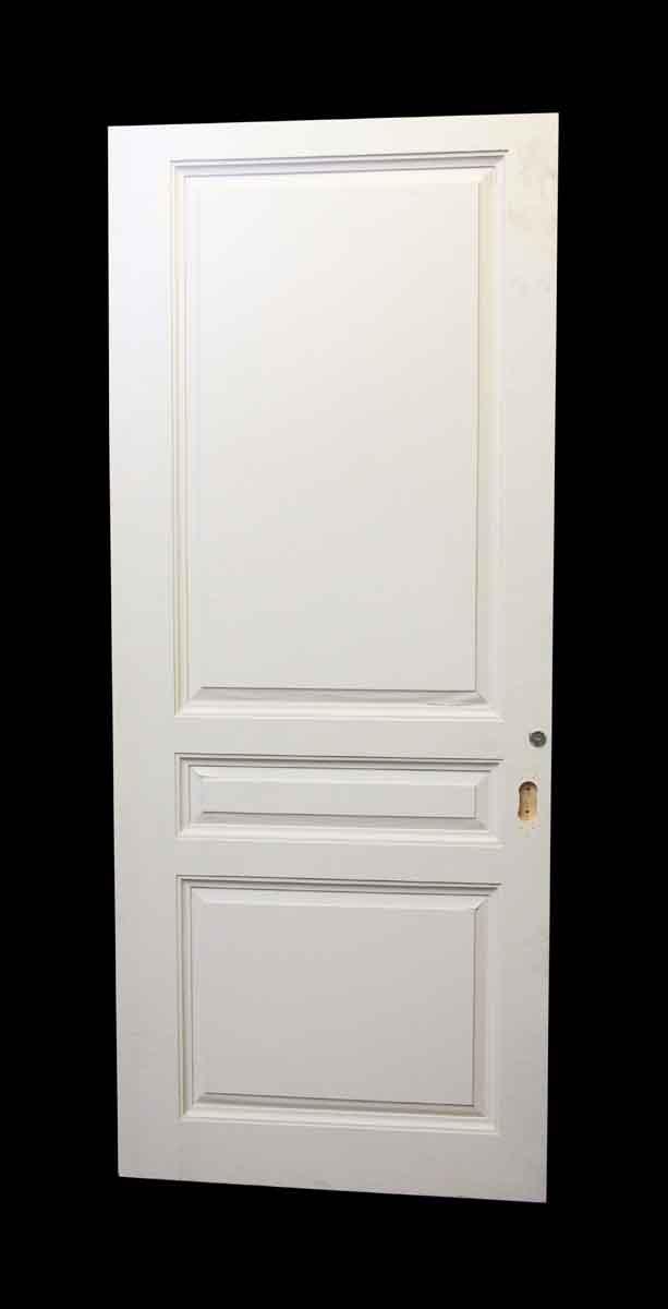 Wide white three panel wood door olde good things for 12 wide door