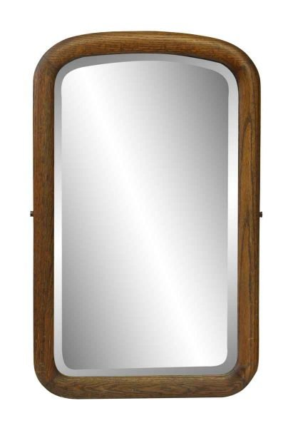 Arched Beveled Mirror with Wood Frame