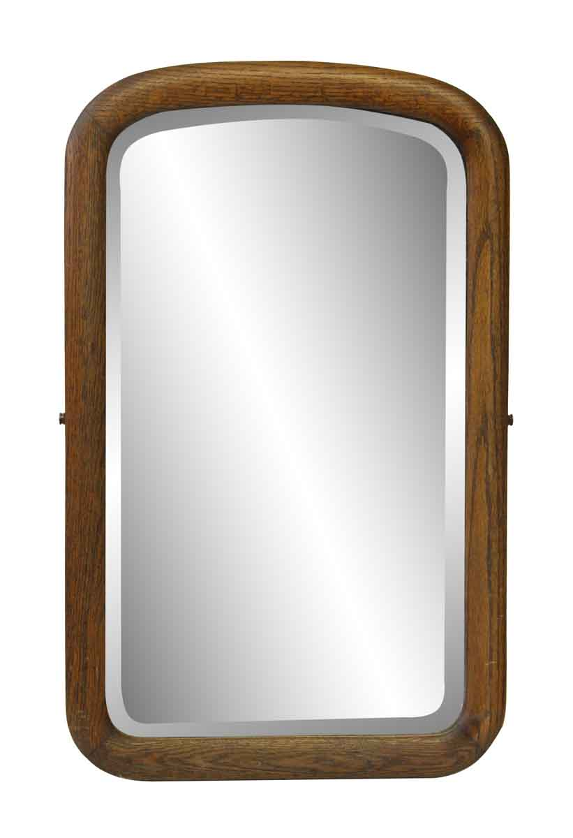 Arched beveled mirror with wood frame olde good things for Beveled mirror