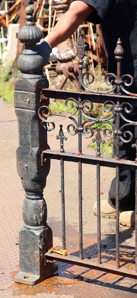 19th Century Hand Wrought Iron Fence with Cast Iron Posts ...