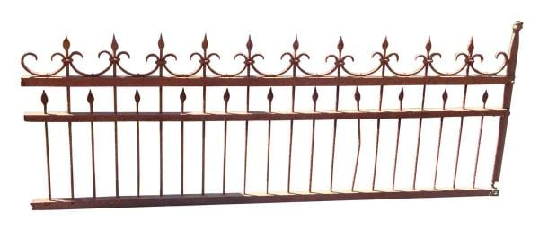 Simple Hand Pounded Wrought Iron Fence
