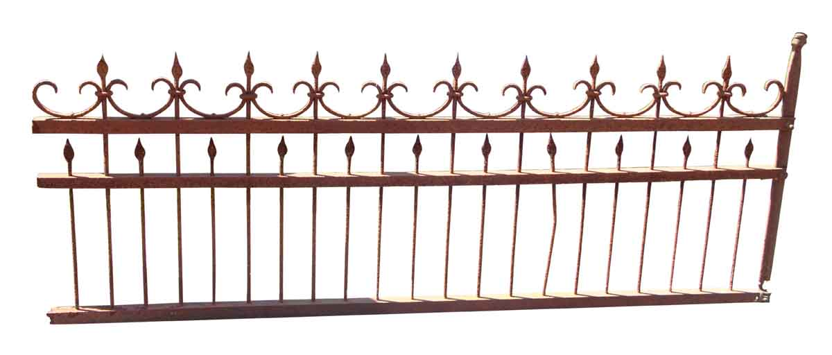 Simple hand pounded wrought iron fence olde good things