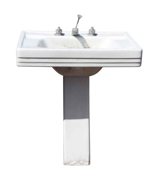 Sleek Line Mid Century Pedestal Sink