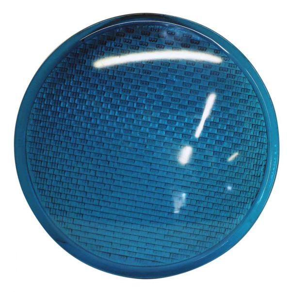Convex Aqua Blue Glass