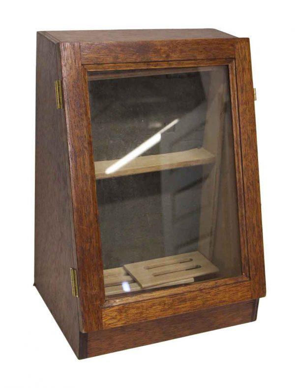 Small Vintage Oak Jewelry Box