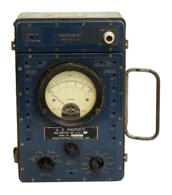 Weston Blue Bakelite Voltage Meter