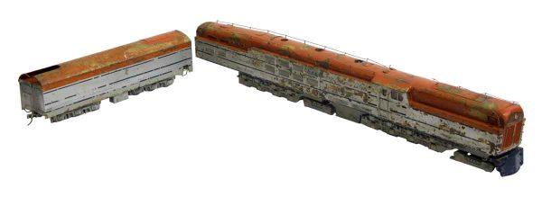 Vintage Two Piece Metal Train Set