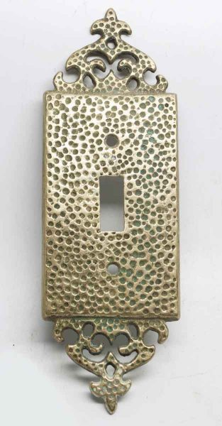 Replica Hammered Arts & Crafts Switch Plate