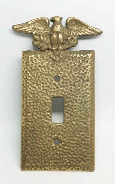Gold Painted Eagle Switch Plate Cover
