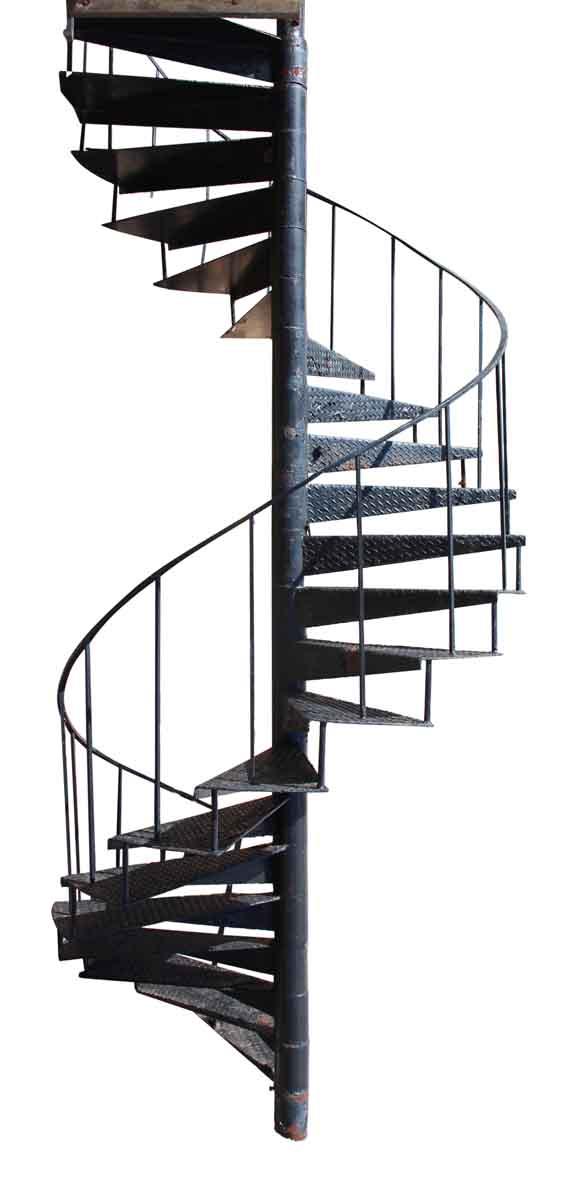 Industrial Cast Iron Spiral Stair Case