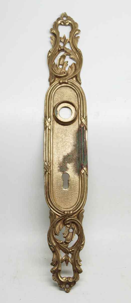 Single French Brass Gilded Back Plate