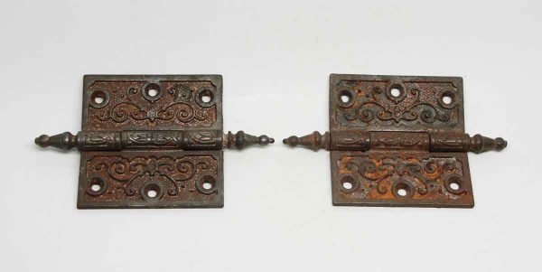 Pair of Cast Iron Victorian Hinges