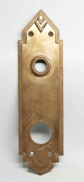 Single Brass Deco Sargent Back Plate