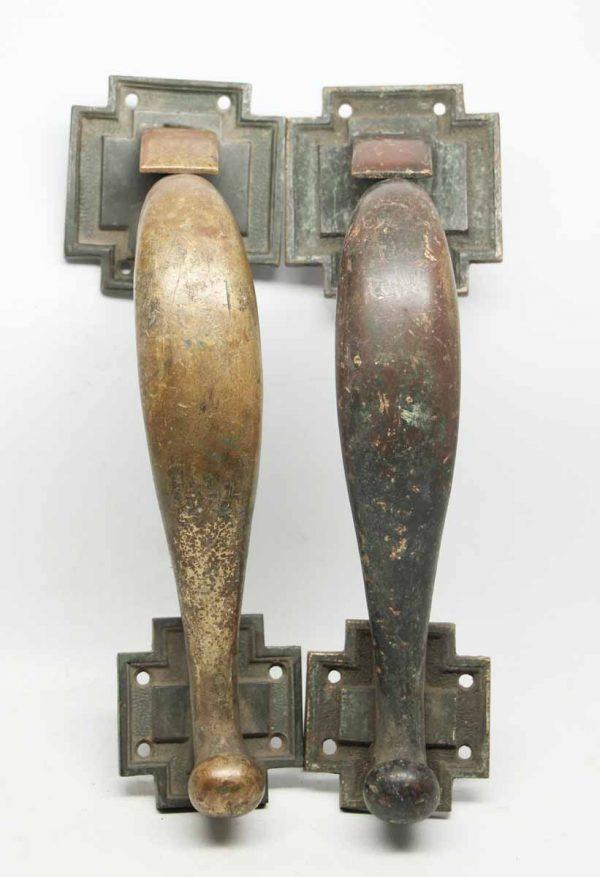 Pair of Antique Corbin Bronze Door Pulls