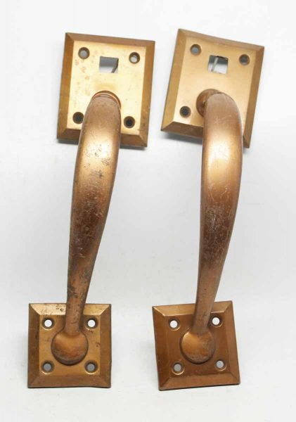 Pair of Door Pulls with Square Back