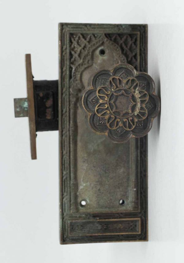 Gothic Bronze Knob Set with Lock