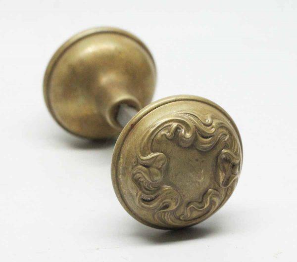 Art Nouveau Brass Knobs