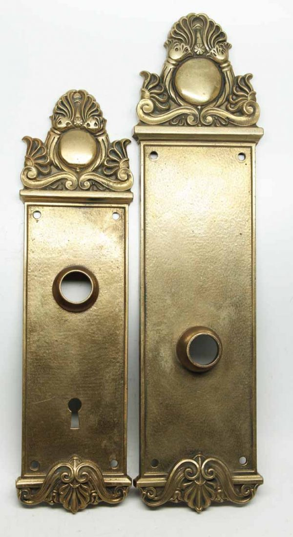 Yale & Towne Pair of Decorative Entry Plates