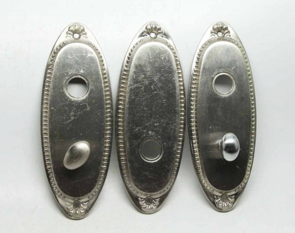 Set of Three Sliver Plated Door Plates
