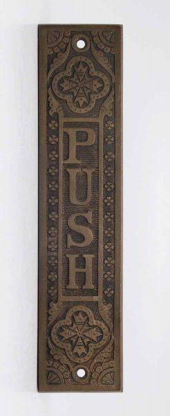 Cast Bronze Decorative Push Plate