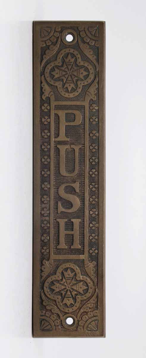 Cast Bronze Decorative Push Plate