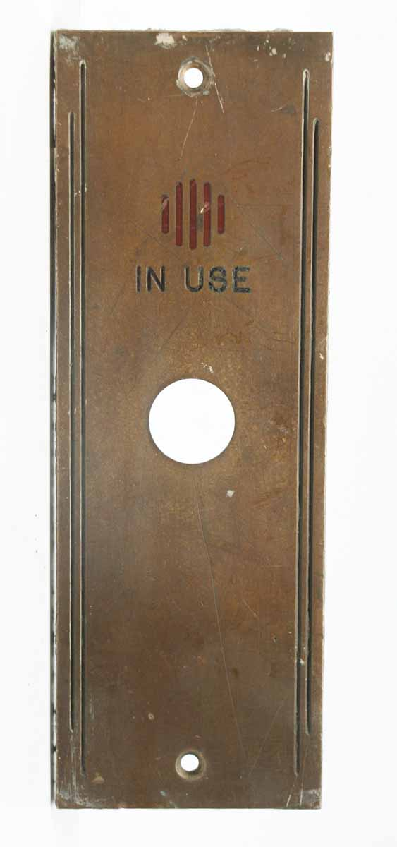 in Use Elevator Indicator Plate