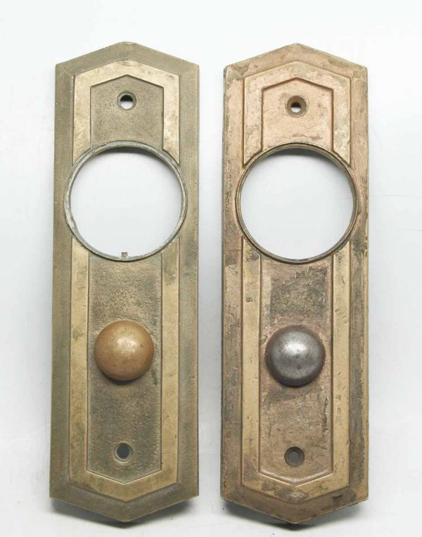 Pair of Bronze Push Button Plates
