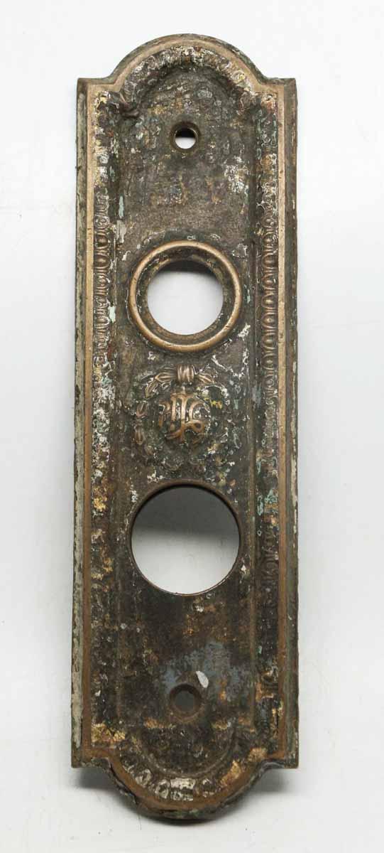 Worn Decorative Bronze Elevator Plate