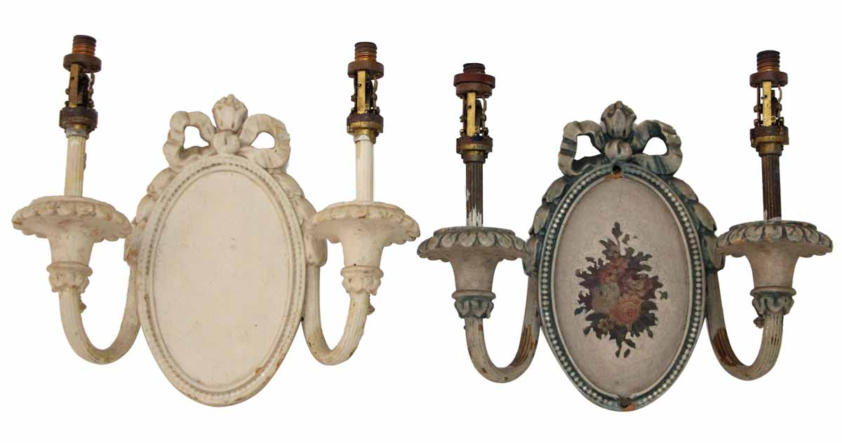 Pair of Wooden Arm Sconces Olde Good Things