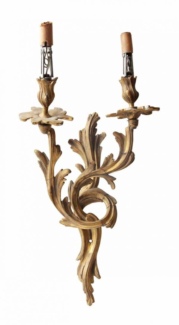French Gilded Two Arm Bronze Sconce
