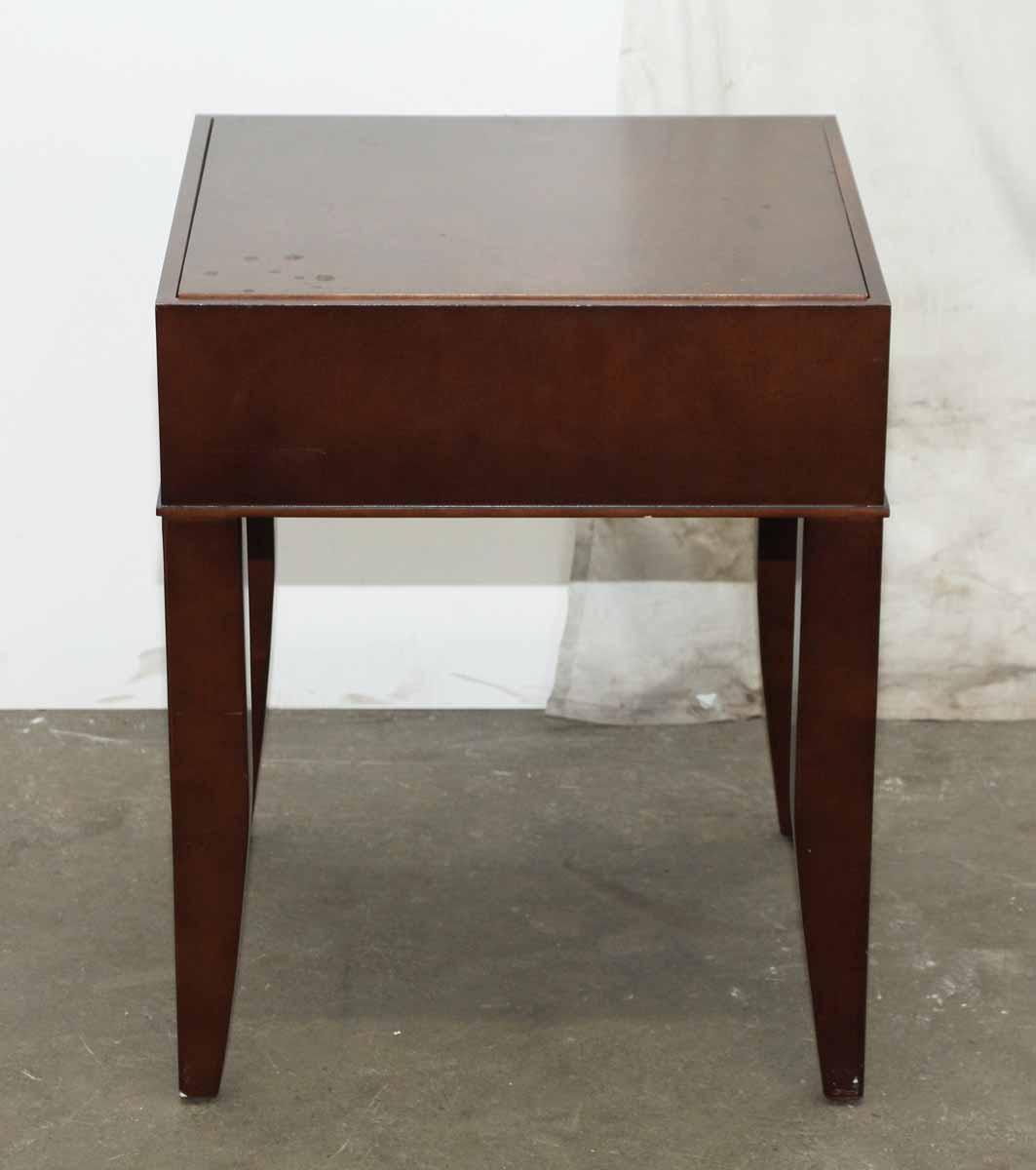 dark wood end tables pair olde good things. Black Bedroom Furniture Sets. Home Design Ideas
