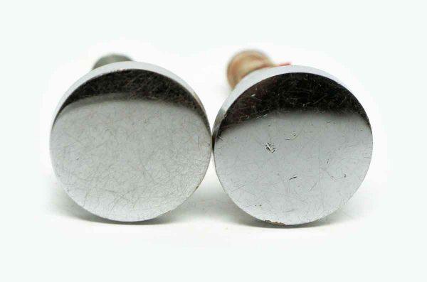 Pair of Flat Round Chrome Knobs