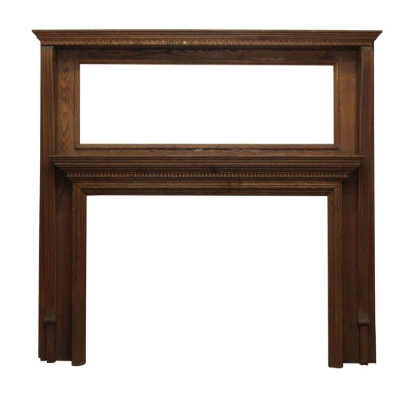 Double Decker Oak Mantel with Dental Molding