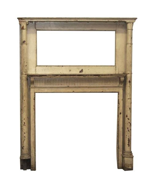 Two Tier Mantel with Columns & Corbels
