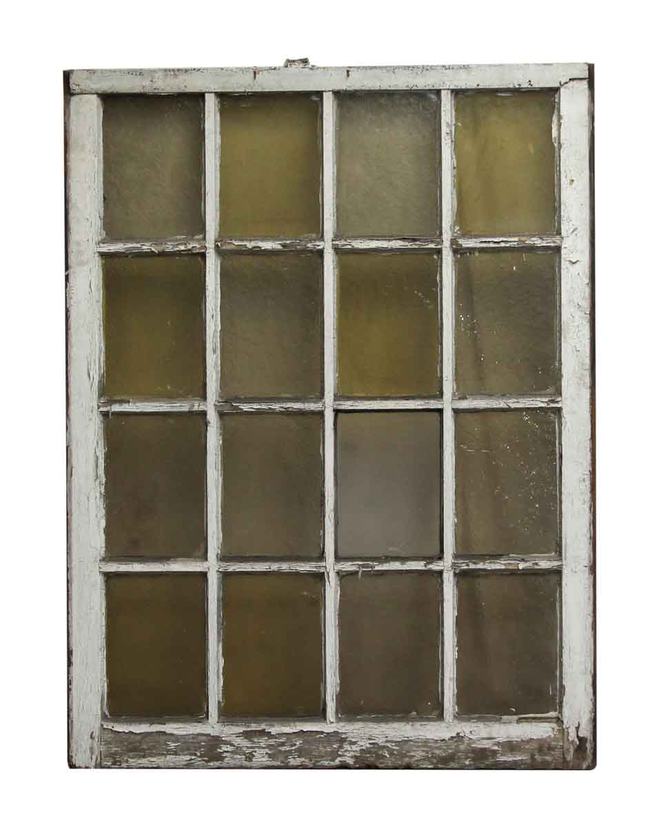 16 Lite Variable Amber Glass Queen Anne Window Olde Good