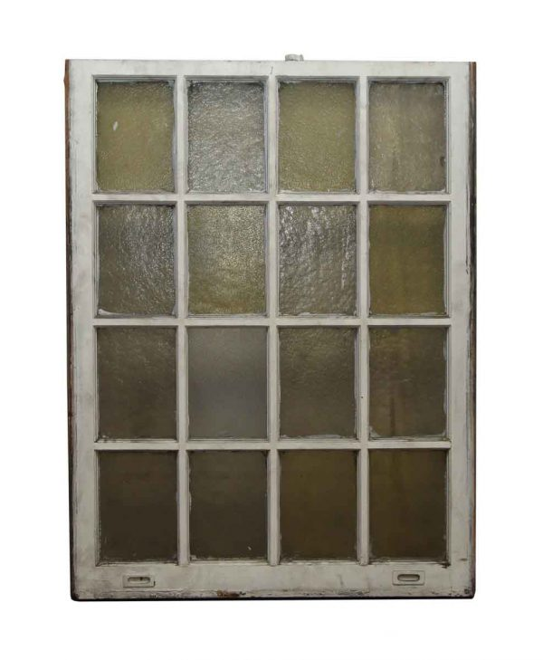 16 Lite Variable Amber Glass Queen Anne Window