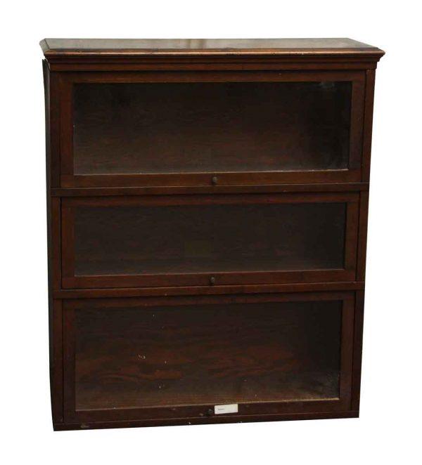 Dark Wooden Barrister Bookcase