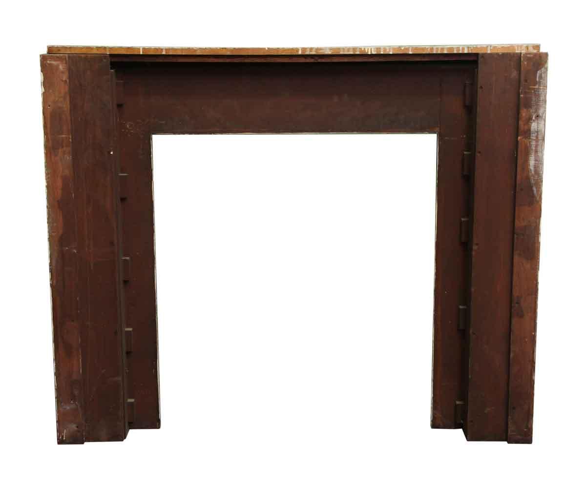 craftsman style simple wood mantel olde good things