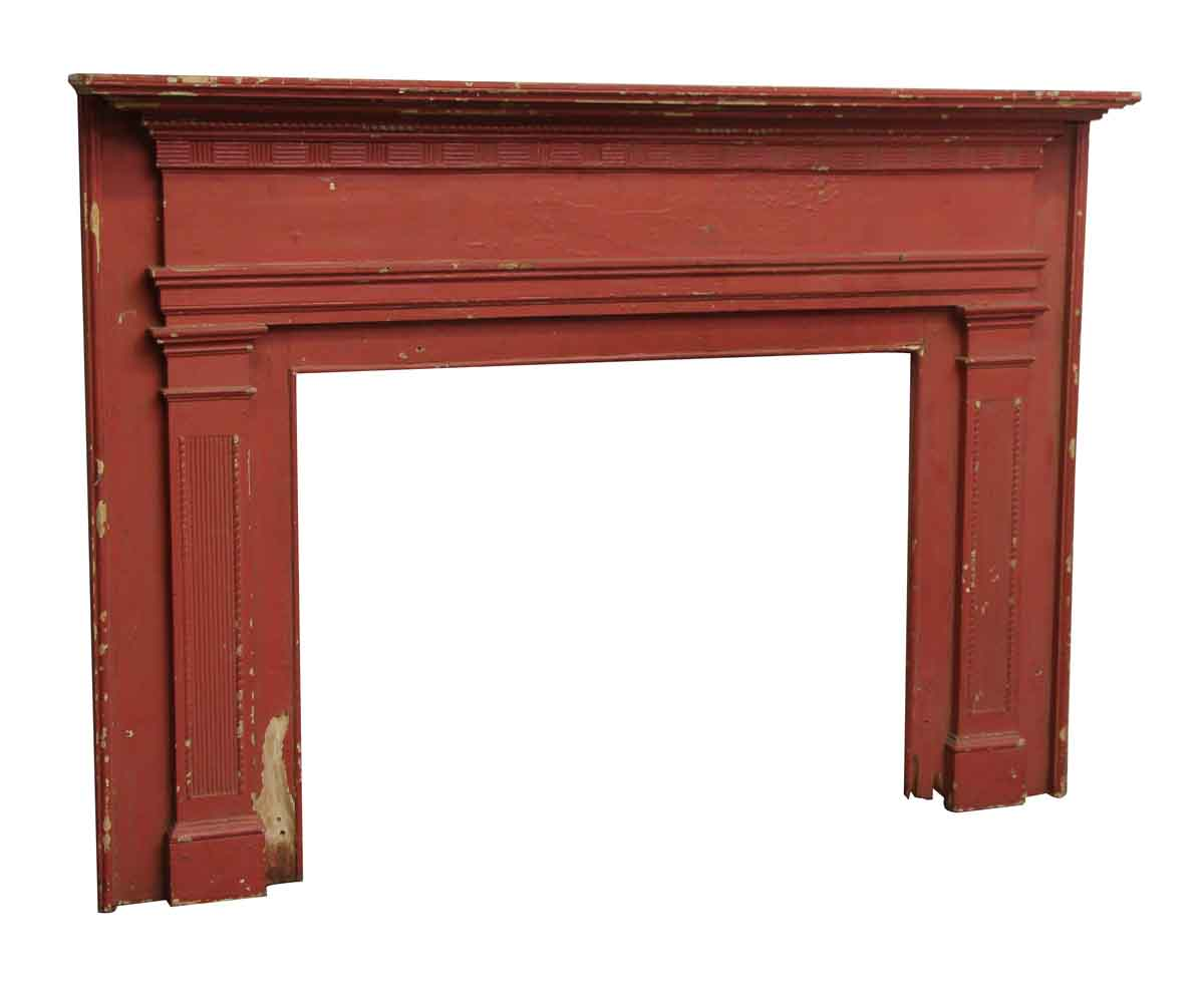 simple federal style wood mantel with wall mounts olde