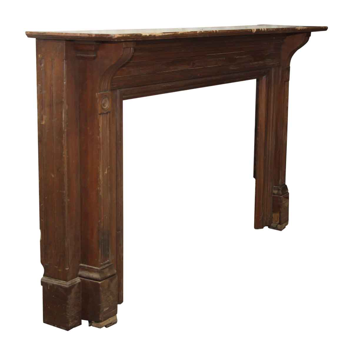 extra wide simple line wooden mantel olde good things