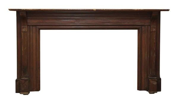 Extra Wide Simple Line Wooden Mantel