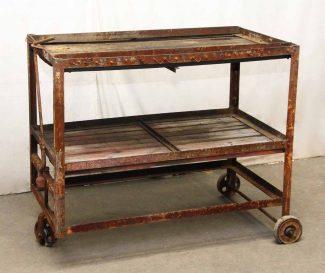 Attrayant Industrial Rusted Metal U0026 Wood Cart