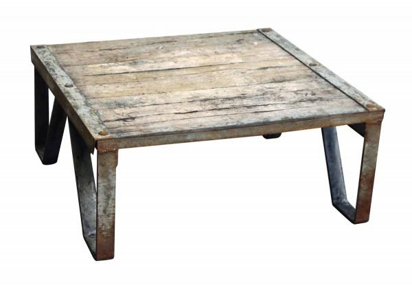 Weathered Industrial Pallet Table