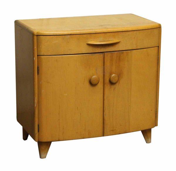 Mid Century Light Tone Wood Side Table