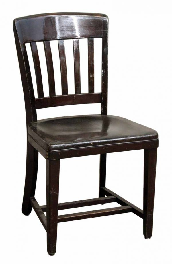 Single Dark Wooden Chair